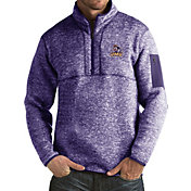 Antigua Men's James Madison Dukes Purple Fortune Pullover Jacket