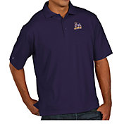 Antigua Men's James Madison Dukes Purple Pique Xtra-Lite Polo