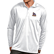 Antigua Men's James Madison Dukes White Exceed Long Sleeve Polo