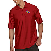 Antigua Men's Kansas Jayhawks Crimson Illusion Polo
