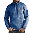 Antigua Men's Kansas Jayhawks Blue Fortune Pullover Jacket
