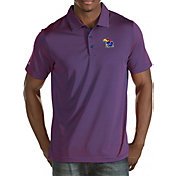 Antigua Men's Kansas Jayhawks Crimson Quest Polo