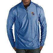 Antigua Men's Kansas Jayhawks Blue Tempo Half-Zip Pullover