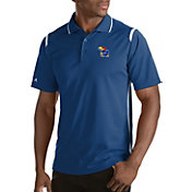 Antigua Men's Kansas Jayhawks Merit Xtra-Lite White Polo