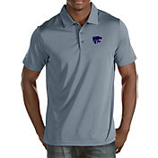 Antigua Men's Kansas State Wildcats Grey Quest Polo