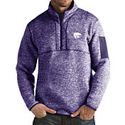 Antigua Men's Kansas State Wildcats Purple Fortune Pullover Jacket