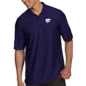 Antigua Men's Kansas State Wildcats Purple Illusion Polo