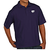 Antigua Men's Kansas State Wildcats Purple Pique Xtra-Lite Polo
