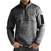 Antigua Men's Oklahoma State Cowboys Black Fortune Pullover Jacket