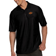 Antigua Men's Oklahoma State Cowboys Black Illusion Polo