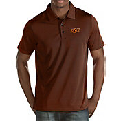 Antigua Men's Oklahoma State Cowboys Black Quest Polo