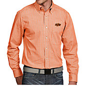 Antigua Men's Oklahoma State Cowboys Orange Associate Button Down Long Sleeve Shirt