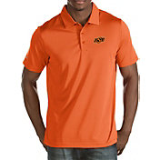 Antigua Men's Oklahoma State Cowboys Orange Quest Polo