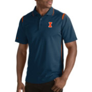 Antigua Men's Illinois Fighting Illini Merit Xtra-Lite Blue Polo
