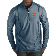 Antigua Men's Illinois Fighting Illini Blue Tempo Half-Zip Pullover