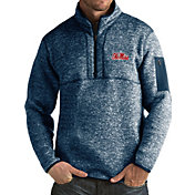 Antigua Men's Ole Miss Rebels Blue Fortune Pullover Jacket