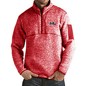 Antigua Men's Ole Miss Rebels Red Fortune Pullover Jacket