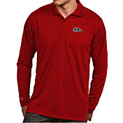 Antigua Men's Ole Miss Rebels Red Exceed Long Sleeve Polo