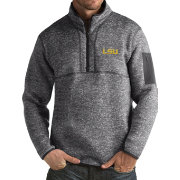 Antigua Men's LSU Tigers Grey Fortune Pullover Jacket