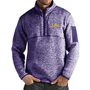Antigua Men's LSU Tigers Purple Fortune Pullover Jacket