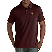 Antigua Men's Louisville Cardinals Black Quest Polo