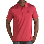 Antigua Men's Louisville Cardinals Cardinal Red Quest Polo