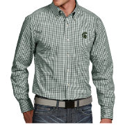 Antigua Men's Michigan State Spartans Green Associate Button Down Long Sleeve Shirt