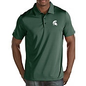Antigua Men's Michigan State Spartans Green Quest Polo