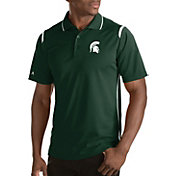 Antigua Men's Michigan State Spartans Merit Xtra-Lite White Polo