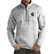 Antigua Men's Michigan State Spartans Grey Fortune Pullover Jacket