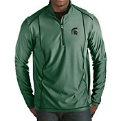 Antigua Men's Michigan State Spartans Green Tempo Half-Zip Pullover