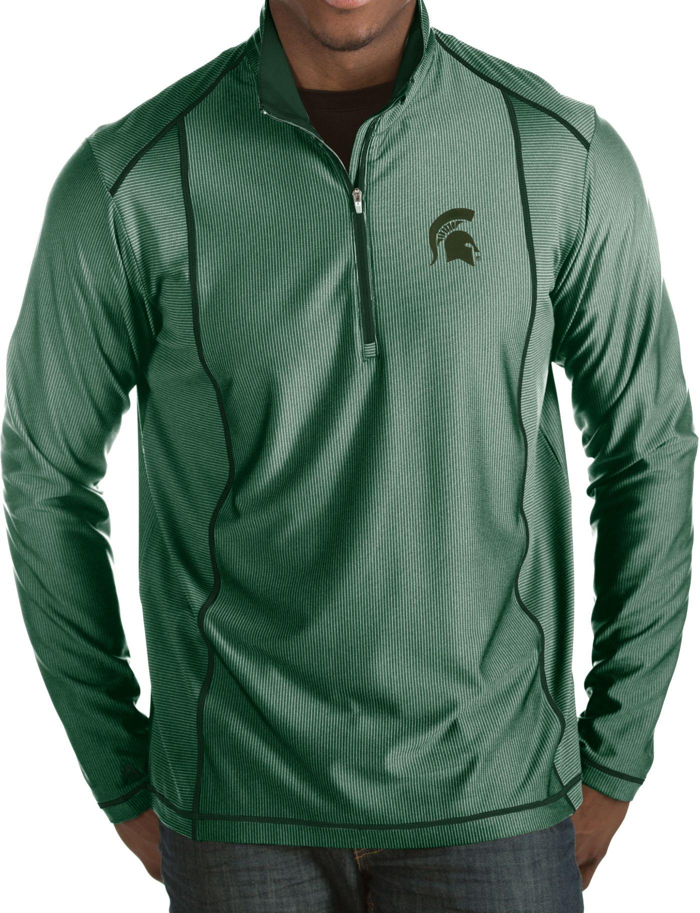 Antigua Men's Michigan State Spartans Green Tempo Half-Zip Pullover