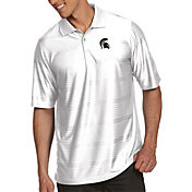 Antigua Men's Michigan State Spartans White Illusion Polo