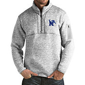 Antigua Men's Memphis Tigers Grey Fortune Pullover Jacket