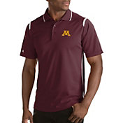 Antigua Men's Minnesota Golden Gophers Merit Xtra-Lite White Polo