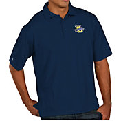 Antigua Men's Marquette Golden Eagles Blue Pique Xtra-Lite Polo