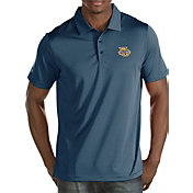 Antigua Men's Marquette Golden Eagles Blue/White Quest Polo