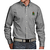 Antigua Men's Marshall Thundering Herd Green Associate Button Down Long Sleeve Shirt