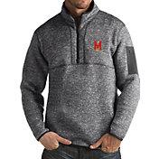 Antigua Men's Maryland Terrapins Grey Fortune Pullover Jacket