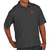 Antigua Men's Maryland Terrapins Grey Pique Xtra-Lite Polo
