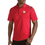 Antigua Men's Maryland Terrapins Merit Xtra-Lite Red Polo