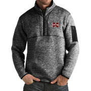 Antigua Men's Mississippi State Bulldogs Black Fortune Pullover Jacket