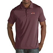 Antigua Men's Mississippi State Bulldogs Maroon Quest Polo