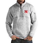 Antigua Men's Nebraska Cornhuskers Grey Fortune Pullover Jacket
