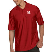 Antigua Men's Nebraska Cornhuskers Scarlet Illusion Polo