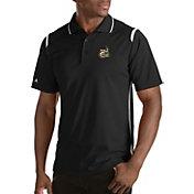 Antigua Men's Charlotte 49ers Merit Xtra-Lite Black Polo