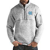 Antigua Men's North Carolina Tar Heels Grey Fortune Pullover Jacket