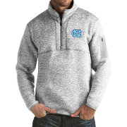 Antigua Men's North Carolina Tar Heels Grey Fortune Pullover Jacket