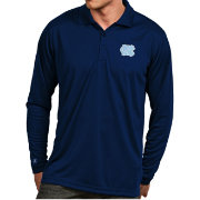 Antigua Men's North Carolina Tar Heels Carolina Blue Exceed Long Sleeve Polo