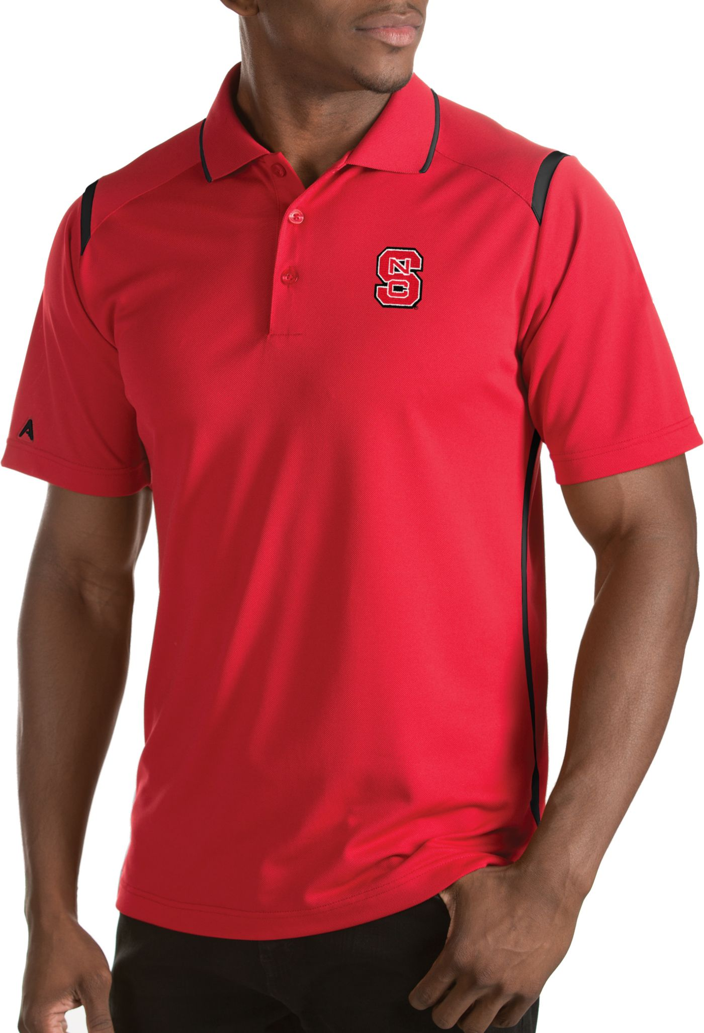 Antigua Men's NC State Wolfpack Merit Xtra-Lite Red Polo